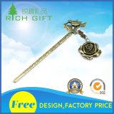 Signet créateur classique en métal de cadeaux de type d'épingle à cheveux d'or de qualité