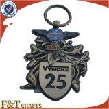 L'oggetto d'antiquariato promozionale all'ingrosso di rilievo dei regali 3D muore il metallo Keychain (FTKC1727A) del getto