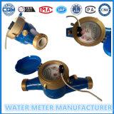 Medidor de agua fría de transferencia de impulsos de latón