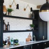 Finition matte moderne personnalisé (par armoire de cuisine-18-03)