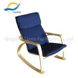 Couro de madeira de alta qualidade cadeira de balanço com cabeça