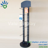 Schwarzes angestrichene Metalschleifen-Halter-Kostenzähler-Tischplatteneckausstellungsstand-Schlüsselring-Bildschirmanzeige-Zahnstange