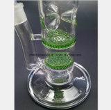 Blaues, grünes, transparentes doppelte Schicht-Bienenwabe-Filter-Glas-Rohr