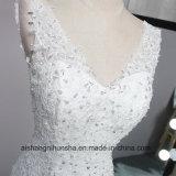 Verbindungs-reizvolle Robe niedrig unterstützen Nixe-Hochzeits-Kleid