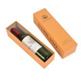 Contenitori di regalo speciali di lusso del vino della carta da stampa per la singola casella del cassetto del vino dell'uva della bottiglia