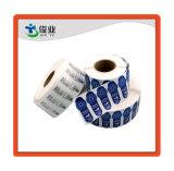 Синий высокой клейкую бумажную наклейку/высокое качество этикетки в рулон