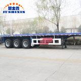 Menor preço 3 Eixos 40FT Container Cama plana semi reboque