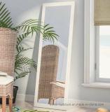 Moderne Elegante MDF van het Huis Witte het Kleden zich van de Spiegel van de Vloer van de Lengte van het Frame Volledige Spiegel