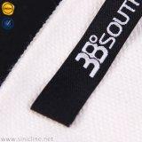 Sinicline plegado final de la base de Negro logotipo personalizado para la ropa de etiqueta principal