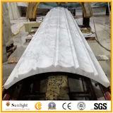De opgepoetste Marmeren Roman Kolommen van de Steen van het Graniet, Witte Marmeren Kolommen Volakas