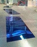 Het Decoratieve Blad van het Roestvrij staal van de spiegel met de Dubbele Film van pvc