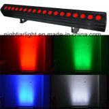 18PCS LED Pixel-Wäsche-Licht des Wand-Wäsche-hellen Stab-RGBW LED der Unterlegscheibe-4in1 des Stadiums-DMX