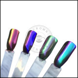 Polvo del pigmento de la aurora del polvo del espejo del cromo del arco iris para el arte del clavo