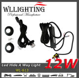 Luz de advertência dos carros 2X6 Hide a Way White LED