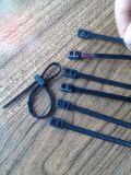 Двойной хомут троса блокировки, с двойной обратной связью кабельную стяжку, пластмассовых кабельных стяжек
