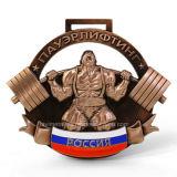 Medalla caliente del deporte del levantamiento de pesas de Adward del metal de las ventas