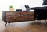 새로운 나무로 되는 가죽 PVC 현대 사무실 책상 (V29A)