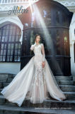 Mermaid мантий шнурка платья венчания W176286 втулок Bridal длинние