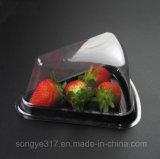 Schwarzer unterer Tiramisu Kasten-transparenter Plastikdreieck-Kasten