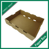 Caja reciclable de papel Kraft para frutas
