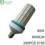 luz de alumínio da iluminação da lâmpada do milho do diodo emissor de luz 80W