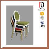 円形鉄の管結婚式のブロムA072のための赤いファブリック椅子