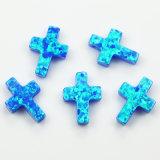 중국 교차하는 모양 파란 색깔 합성 단백석 돌