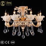 Luxuxgoldene Druckguss-Kristallleuchter-Licht