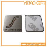 Изготовленный на заказ эмблема автомобиля серебра логоса с задней частью стикера 3m (YB-MP-01)