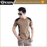 T-shirt de séchage rapide de Windrunner de loisirs tactiques extérieurs d'Esdy