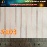 Tela tingida cor-de-rosa da listra do fio de poliéster para o forro do terno (S103.156)