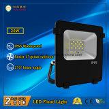 3 años de garantía Lámpara de inundación al aire libre de 20W IP65 LED con 110lm / W y ángulo de haz de 270 grados