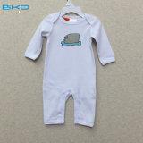 エンベロプ首の赤ん坊の衣服の長い袖の赤ん坊のロンパース