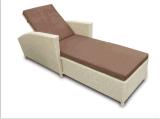 屋外の藤の家具の余暇のラウンジのベッド3