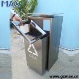 Especial colgar Diseño Chute comercial Slide Cobre Acero cubo de basura