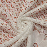 De witte Stof van het Kant van het Borduurwerk van de Polyester van de Stof van het Kant Beste Bruids voor de Kleding /Underwear/Cloth van het Huwelijk