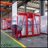 Sc200/200材料のための二重ケージの建築現場の起重機