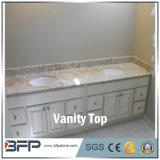 Parte superior branca da vaidade da cor do banheiro de superfície contínuo com alta qualidade