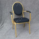 イベントYc-Zg02-01のための椅子を食事する卸し売り鉄骨フレームのArmrest