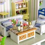 Jouet en bois de Chambre du puzzle DIY avec des meubles