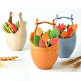 выбор десерта торта вилки плодоовощ листьев бочонка 16PCS/Set
