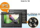 "3G de doble entrada SDI 7"" Monitor panel IPS, con forma de onda con vectorscopio histograma RGB"
