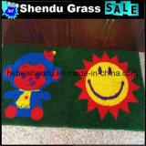 Cute 1m Size 20mm Height Carton Artificial Grass Mat