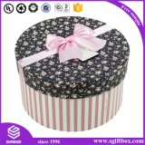 Elegante Round Storage Jewelry Flower Tie Scarf Gift Box