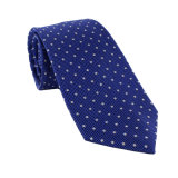 Cravate en soie tissée en couleur pour hommes et polyester