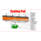 Cobertura de ar evaporativa para sistema de ventilação