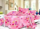 Microfiberの明白な染められた最もよいシーツの一定の寝具セット