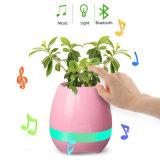 2017新しいBluetoothのスマートな接触音楽植木鉢7カラーLEDスピーカープランター