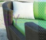 3 PCS verbindener Sofa-Typ PET Rattan-Freizeit-Aufenthaltsraum