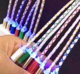 Cable transparente neto ligero de la sinc. de los datos del PVC 1-Meter-Long del LED